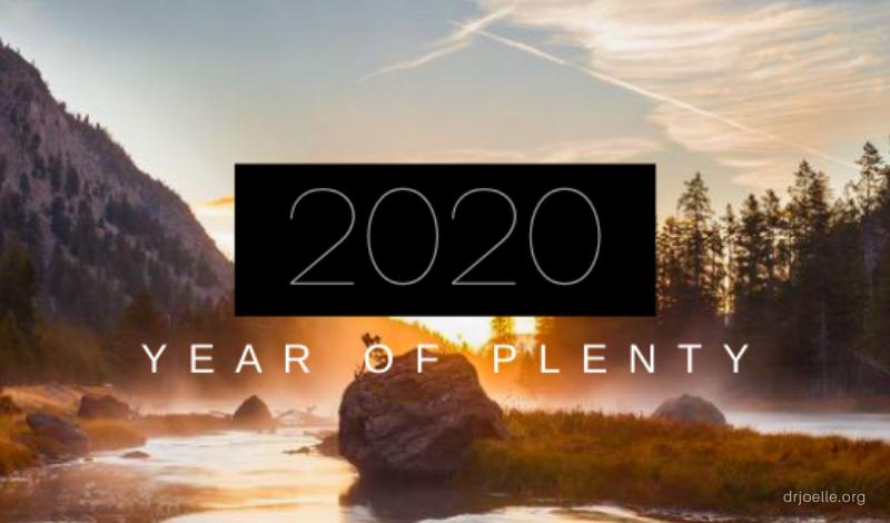 2020 year of plenty
